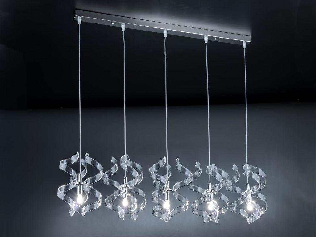 Astro lampa wiszaca Szklo metalizowane